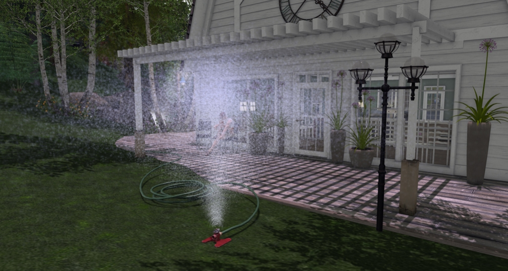 Convair lawn sprinkler